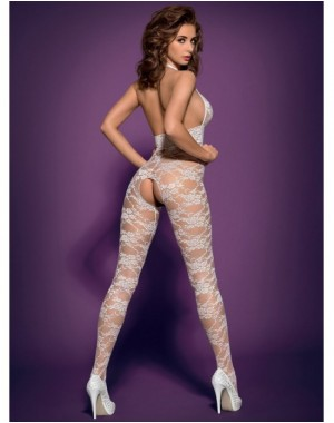Bodystocking L400 White [S/M], Obsessive